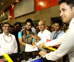 Flight check-in at Shivaji Stadium metro station
