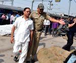 Jitender Singh Tomar being taken to Faizabad