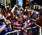 US-NEW YORK-WOMEN'S SOCCER TEAM-CELEBRATION