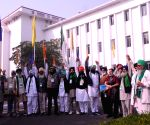 Farmer leaders arrive at Vigyan Bhawan to hold fifth round of talks with the Centre