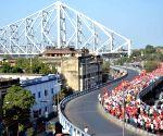 Farmers march towards Raj Bhawan