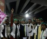 Farmers from UP reach Delhi-UP border at Ghazipur during protests against Farm Laws