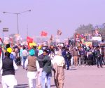 Farmers protest against the Central Government's Farm Laws at Delhi-Haryana's Singhu Border