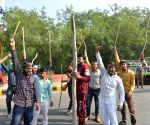 Farmers protest against Central Govt's Farm Laws at Delhi-Noida Border