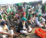 Farmers protest against Centre's new Farm Bills at Sant Nirankari ground in Burari