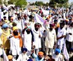 Farmers' demonstration outside  Sidhu's residence