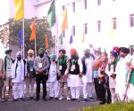 Free Photo: Farmers Union leaders arrived at Vigyan Bhawan, during a meeting with Union ministers on Farmers issue in new Delhi on Saturday
