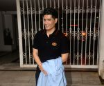 Manish Malhotra seen at filmmaker Karan Johar's residence