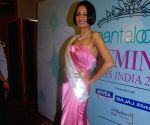 Femina Miss India Universe Ekta Chaudhury posing for the shutterbugs in Mumbai.