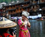 Scenery at the scenic spot of the  Phoenix (Fenghuang) ancient city