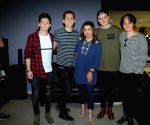 Media interaction with British band The Vamps