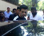 Karan Johar seen outside Ajay Devgn's house