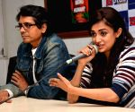 Filmmaker Nagesh Kukunoor and actress Monali Thakur during a press conference regarding their upcoming film 'Lakshmi'