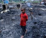 Fire at Rohingya camp in Delhi in Saturday night, many shanties burnt after a fire broke out at Madanpur khadar in New Delhi
