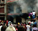Fire breaks out at a Sampatchak godown