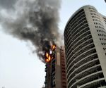 Fire breaks out at high-rise apartment in Mumbai