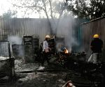 Free Photo: Gurugram: Fire breaks out at the vegetable market, no casualties reported
