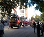 Fire tenders battle blaze at newspaper office