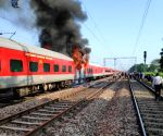 Fire in Telangana Express; no casualties