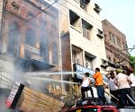 Fire at chemical shop