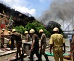 Massive fire breaks out at a chemical godown