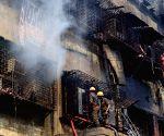 Bagri market blaze - Firefighting operations underway