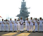 Girish Luthra on board INS Vikramaditya