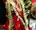 Free Photo: 'Flowers' made of Rs 1.11 cr offered at Telangana temple