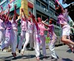 Holi celebrations - Foreign tourists