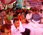 Mukesh Sharma sit on 'Indefinite Hunger Strike