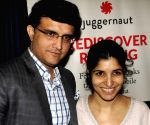Sourav Ganguly, Chiki Sarkar during a press conference