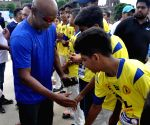 Vinod Kambli interacts with budding cricketers