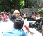 Karti Chidambaram at DMK-led opposition parties' demonstration