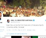 Kapil Dev named Chancellor of Haryana's Sports University