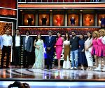 "Launch of cricket and comedy show of ""Dhan Dhana Dhan"" - Kapil Dev, Samir Kochhar, Archana Vijaya, Shibani Dandekar, Sunil Grover, Ali Asgar and Sugandha Mishra"