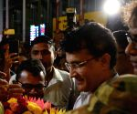 Sourav Ganguly arrives at NSCBI