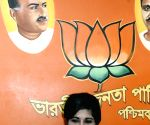 Former IPS officer Bharati Ghosh meets WB BJP President Dilip Ghosh