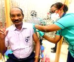 ISRO Scientific Secretary Umamaheswaran R receives his first dose of the COVID-19 vaccine