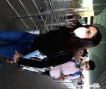 Manushi Chillar seen at Mumbai Airport