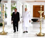 Former Nepal PM meets Modi