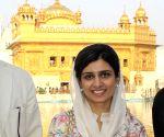 Former Pakistan Foreign Minister Hina Rabbani Khar pays obeisance at Golden Temple