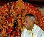 Pranab Mukherjee celebrates Durga Puja at his ancestral house