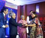 Pranab Mukherjee presents 2019 Bharat Manavta Vikas Puraskar