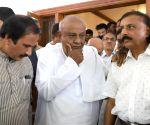 Political leaders visit S.M. Krishna's residence