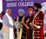Hindu College convocation ceremony - Dr. Manmohan Singh