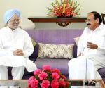 Former PM Manmohan Singh meets Vice President M. Venkaiah Naidu