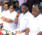 O Panneerselvam addressing the media