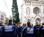 Free Photo: French President Emmanuel Macron visits church in Nice after attack