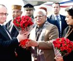 French President arrives in Chandigarh