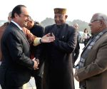 Modi meets Hollande at Rock Garden of Chandigarh